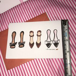 👠 Shoe Lover Blank Notecards  🎁GIFT💝Set 🌟NEW✨